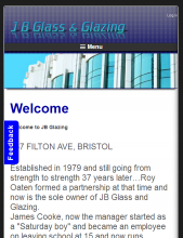 JB Glazing website